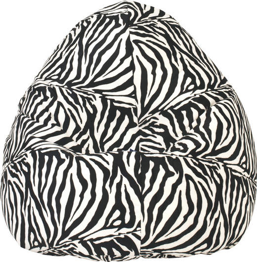 SITZSACK in Schwarz, Weiß Textil - Schwarz/Weiß, Design, Textil (80/130cm) - Carryhome