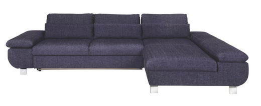 WOHNLANDSCHAFT Webstoff Nierenkissen - Blau/Chromfarben, Design, Textil/Metall (313/203cm) - Venda