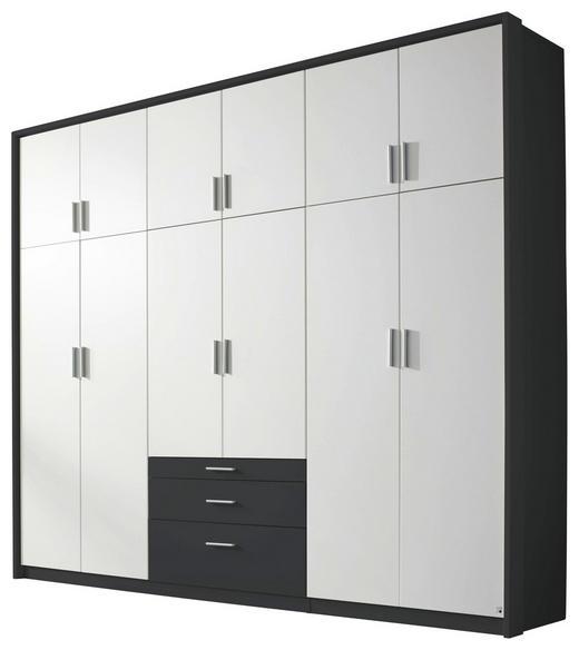 DREHTÜRENSCHRANK 12-türig Grau, Weiß - Weiß/Grau, Design, Holzwerkstoff/Kunststoff (275/231/56cm) - Carryhome