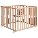 LAUFGITTER 100/100/70 cm  - Buchefarben, Basics, Holz/Kunststoff (100/100/70cm) - My Baby Lou