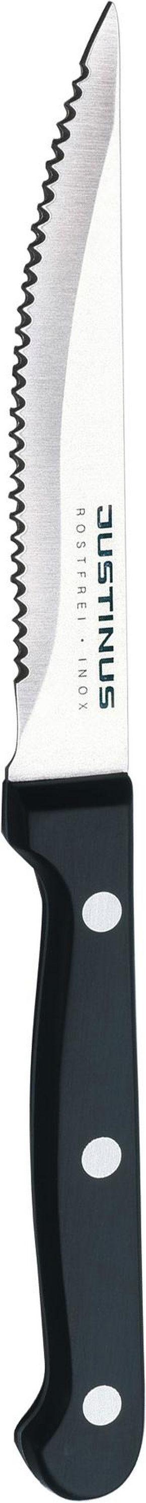 GRILLKNIV - svart/rostfritt stål-färgad, Basics, metall/plast (11cm) - Justinus