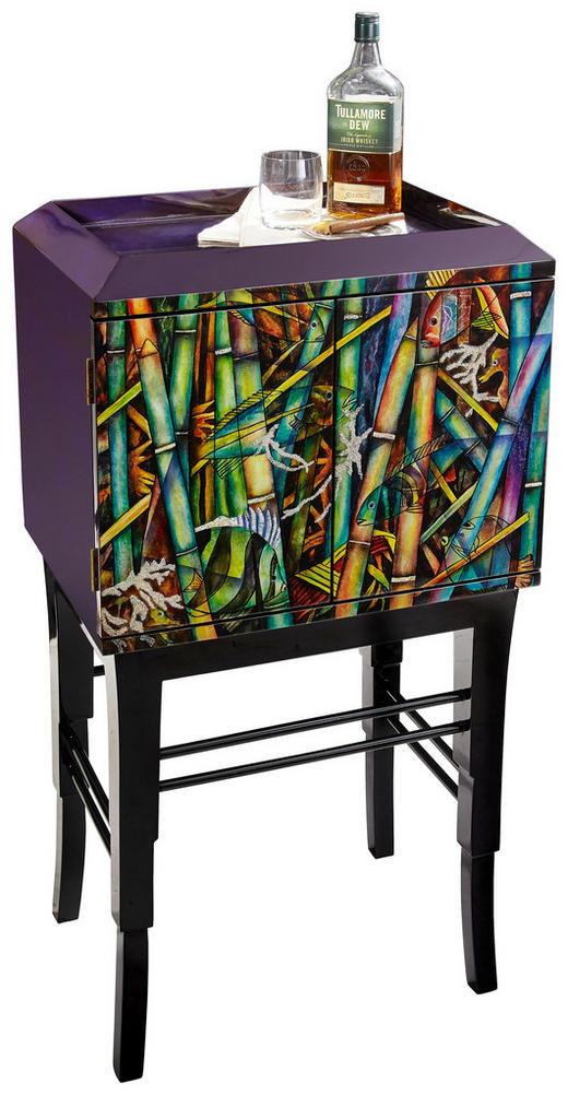 KOMMODE Pappel massiv Multicolor, Schwarz - Multicolor/Schwarz, Design, Holz (55/102/40cm) - Xora