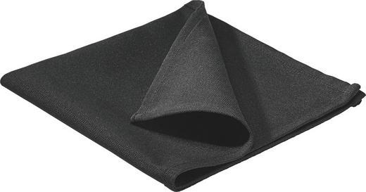 SERVIETTE  Textil  Schwarz  40/40 cm - Schwarz, Basics, Textil (40/40cm)