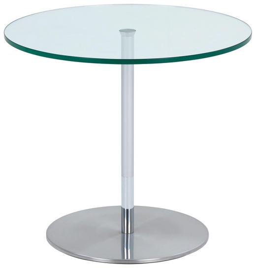 BEISTELLTISCH in Edelstahlfarben - Edelstahlfarben, Design, Glas/Metall (57/57cm) - Novel