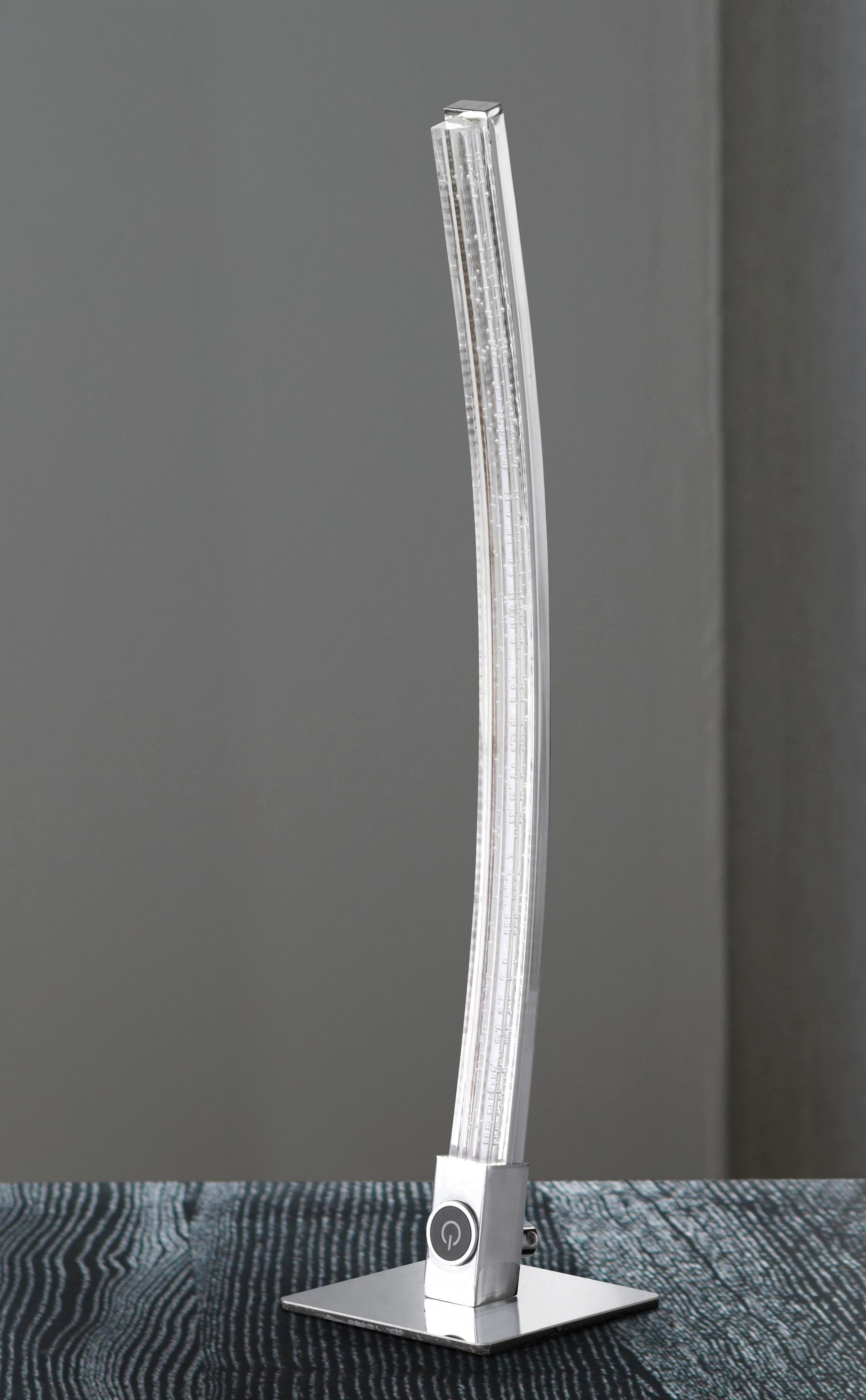 LED-TISCHLEUCHTE - Chromfarben, Design, Kunststoff/Metall (10/43,5/10cm)