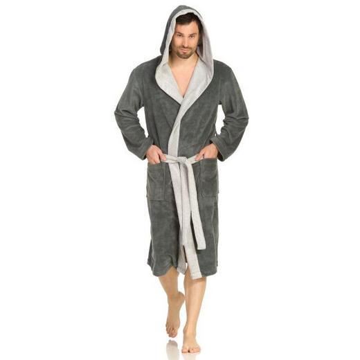 BADEMANTEL  Grau - Grau, Basics, Textil (L) - VOSSEN