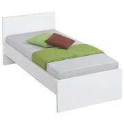 BETT 90 cm   x 200 cm   in Holzwerkstoff Weiß - Weiß, Design, Holzwerkstoff (97/81/207cm) - CARRYHOME