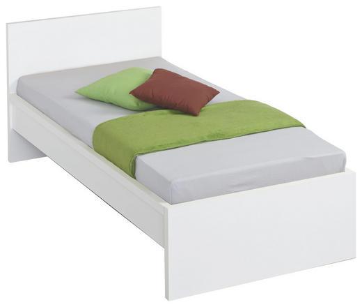 BETT 90/200 cm - Weiß, Design, Holzwerkstoff (90/200cm) - Carryhome