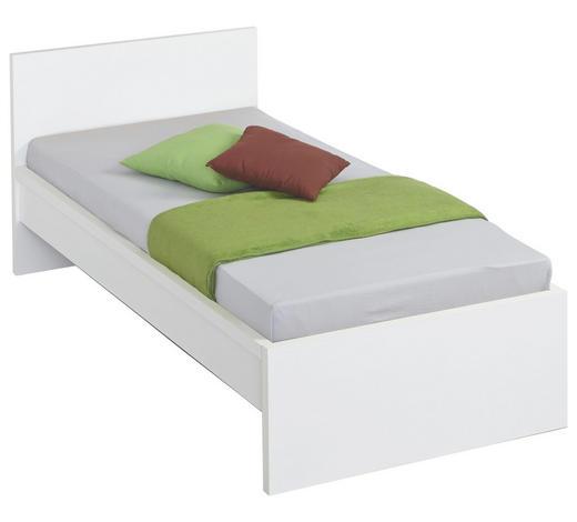 BETT 90/200 cm  in Weiß - Weiß, Design, Holzwerkstoff (90/200cm) - Carryhome