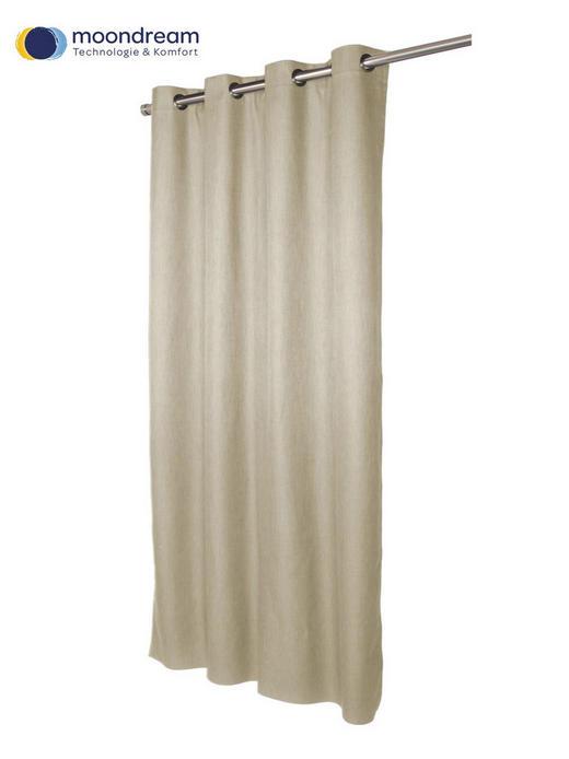 VERDUNKELUNGSVORHANG  black-out (lichtundurchlässig)  135/260 cm - Beige, Design, Textil (135/260cm)