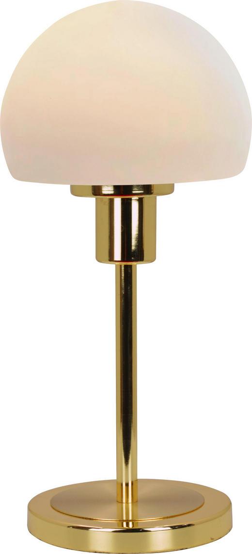 LED-TISCHLEUCHTE - Messingfarben, Design, Glas/Metall (30,5cm) - Boxxx