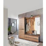 GARDEROBENBANK 120/48/38 cm  - Eichefarben/Graphitfarben, Design, Holzwerkstoff/Textil (120/48/38cm) - Voleo