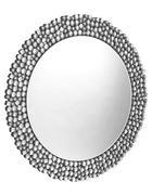 STENSKO OGLEDALO, 80/1,9/80 cm steklo, leseni material - srebrna, Design, steklo/leseni material (80/1,9/80cm) - Novel