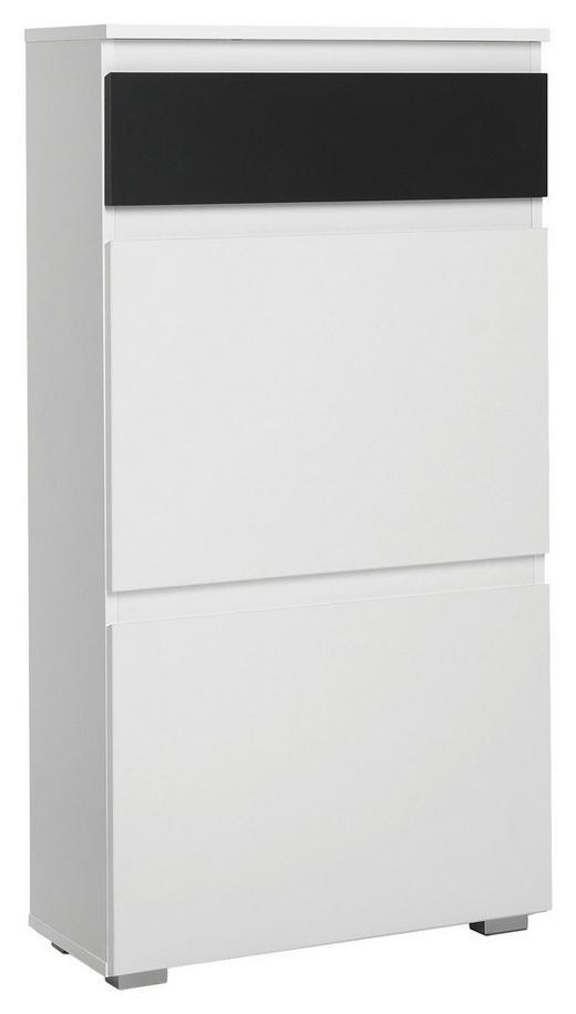 SCHUHKIPPER Anthrazit, Weiß - Anthrazit/Weiß, KONVENTIONELL (58/109/25cm) - Carryhome
