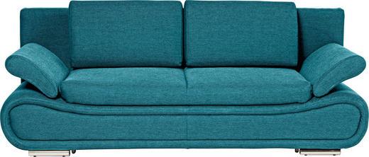 SOFA Blau - Blau/Chromfarben, Design, Textil/Metall (210/84/90cm) - NOVEL