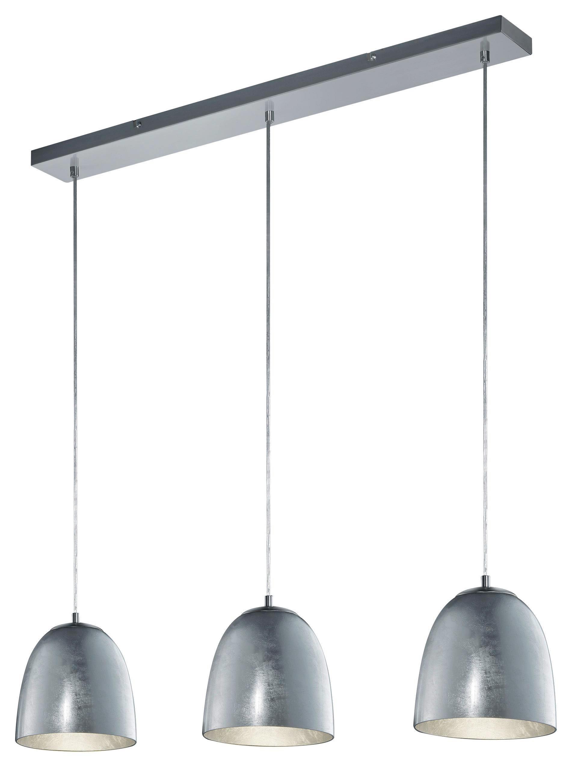 HÄNGELEUCHTE - Silberfarben, LIFESTYLE, Metall (80/130cm)