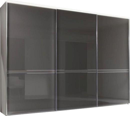 SCHWEBETÜRENSCHRANK 3-türig Braun - Chromfarben/Braun, Design, Glas/Holzwerkstoff (280/222/68cm) - Moderano