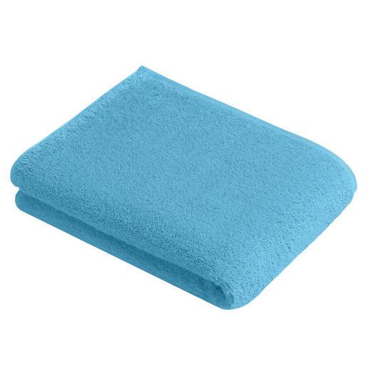 BADETUCH 100/150 cm - Blau, Basics, Textil (100/150cm) - Vossen