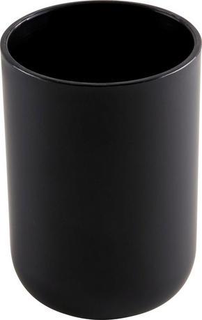 TANDBORSTMUGG - svart, Basics, plast (7,3/10,3cm)