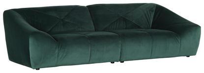 MEGASOFA in Textil Dunkelgrün  - Dunkelgrün/Schwarz, Design, Textil (250/74/105cm) - Carryhome