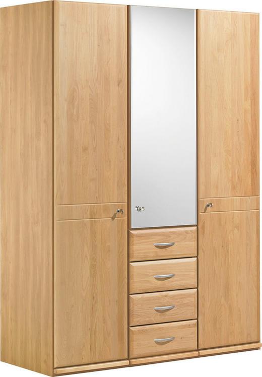 DREHTÜRENSCHRANK 3-türig Erle teilmassiv Erlefarben - Erlefarben/Alufarben, KONVENTIONELL, Holzwerkstoff/Metall (150/200/62cm) - Venda