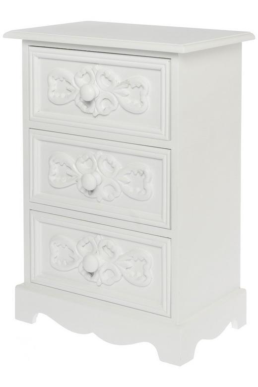 KOMMODE Paulownia Weiß - Weiß, LIFESTYLE, Holz (25/37/16cm)