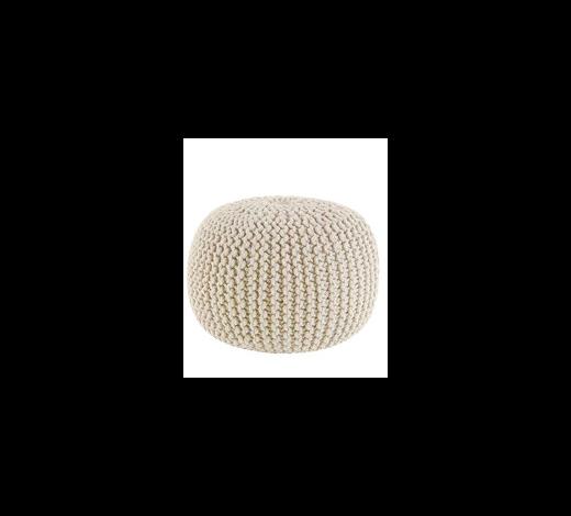 POUF Uni Grau  - Creme/Grau, Trend, Textil (55/35cm) - Linea Natura