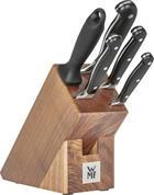 BLOK NA NOŽE - hnědá/barvy nerez oceli, Basics, kov/dřevo (36/19,5/14,5cm) - WMF