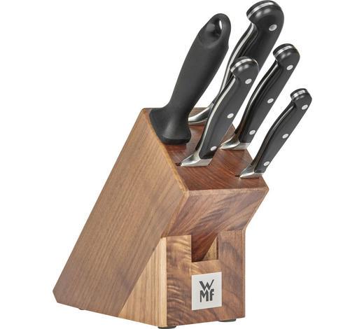 BLOK NA NOŽE - hnědá/barvy nerez oceli, Design, kov/dřevo (36/19,5/14,5cm) - WMF