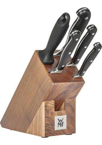 MESSERBLOCK Stahl 6-teilig - Edelstahlfarben/Braun, Basics, Holz/Metall (36/19,5/14,5cm) - WMF