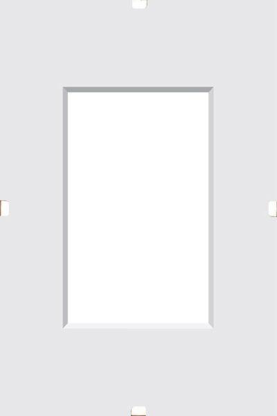 CLIPRAHMEN in Klar - Klar, Glas (21/15/1cm)