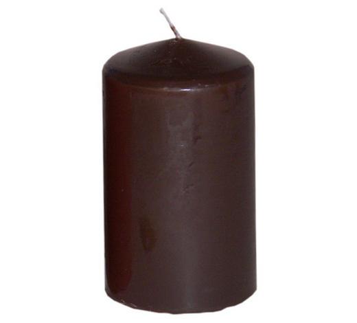 STUMPENKERZE 5,7/10 cm - Braun, LIFESTYLE (5,7/10cm)