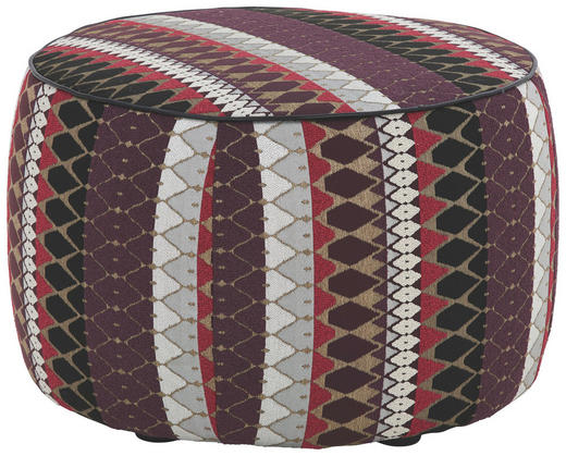 POUF Flachgewebe Multicolor - Multicolor, Design, Textil (62/40/62cm) - Koinor