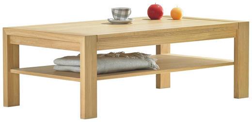 COUCHTISCH Eiche massiv rechteckig Eichefarben - Eichefarben, Design, Holz (130/45/70cm) - Musterring