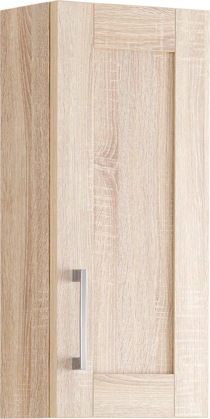 HÄNGESCHRANK in 30/65.5/15.5 cm - Chromfarben/Eichefarben, KONVENTIONELL, Holzwerkstoff/Metall (30/65.5/15.5cm) - XORA