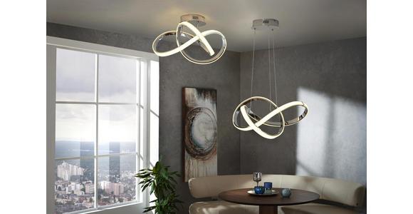 LED-DECKENLEUCHTE - Chromfarben, Design, Kunststoff/Metall (59/29/59cm) - Ambiente