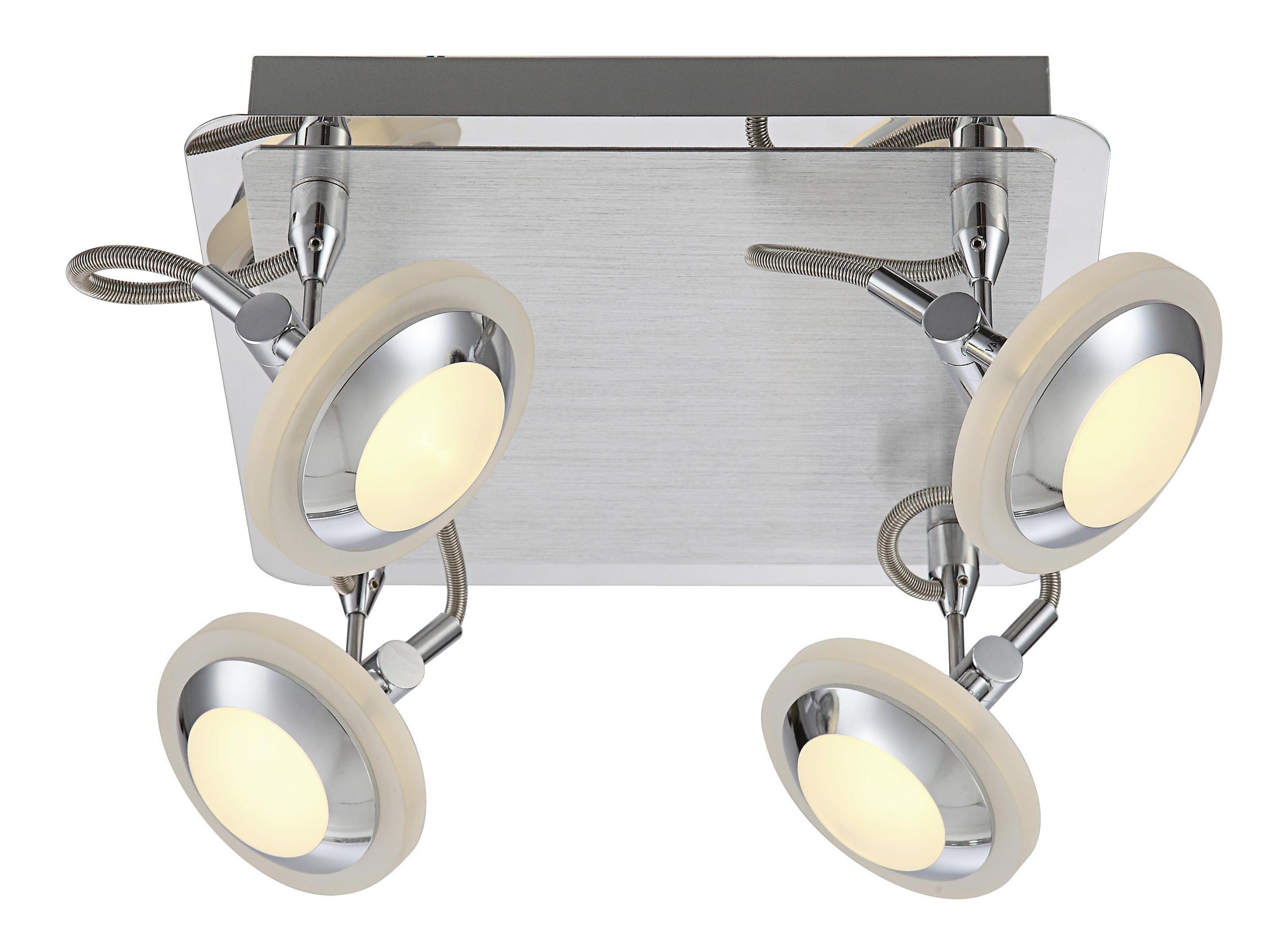 LED-STRAHLER - Chromfarben, Design, Kunststoff/Metall (25/25/16cm)