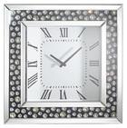 WANDUHR 50/50/5 cm - Silberfarben/Schwarz, Design, Glas/Holzwerkstoff (50/50/5cm) - Xora