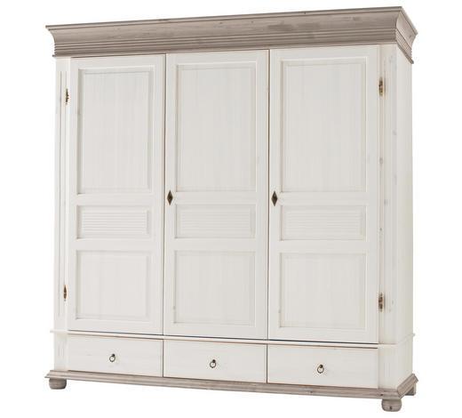 Kleiderschrank 3 Türig Kiefer Massiv Grau Weiß Online Kaufen Xxxlutz