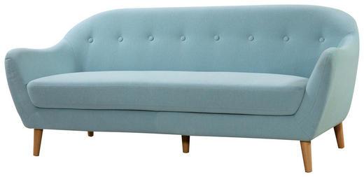 TROSJED SOFA - plava/boje bukve, Trend, tekstil/drvo (187/79/82cm) - Ti`me