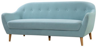 TROSJED SOFA - plava/natur boje, Design, drvo/tekstil (187/79/82cm) - Ti`me