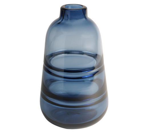 VASE 17,5 cm - Blau, Design, Glas (14/22,5cm)