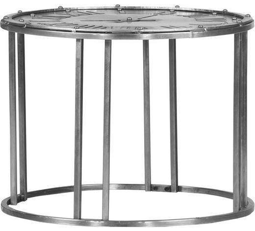 BEISTELLTISCH rund Silberfarben  - Silberfarben, Design, Metall (61/46cm)