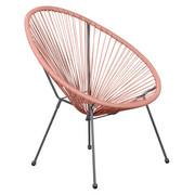 STUHL Altrosa, Grau - Altrosa/Grau, Design, Kunststoff/Metall (73/76/89cm)
