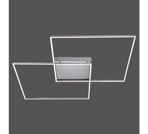 LED-DECKENLEUCHTE   - Nickelfarben, Design, Metall (90/90/6,5cm) - Novel