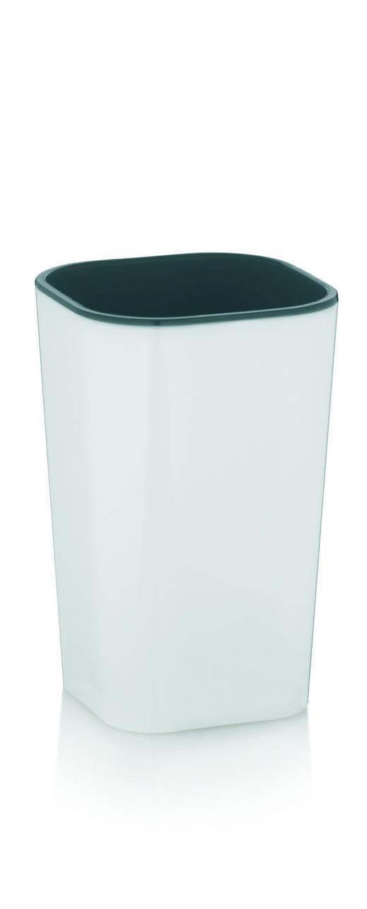 MUNDSPÜLBECHER - Weiß/Grau, Basics, Kunststoff (7,5/7,5/12cm)