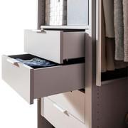 SCHUBKASTENEINSATZ für 50er Elemente Grau, Silberfarben - Silberfarben/Grau, Design (50/29/45cm) - Hom`in