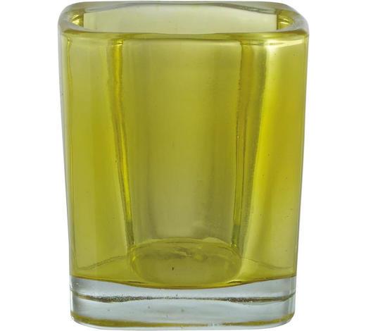 TEELICHTGLAS - Gelb, Basics, Glas (0cm)