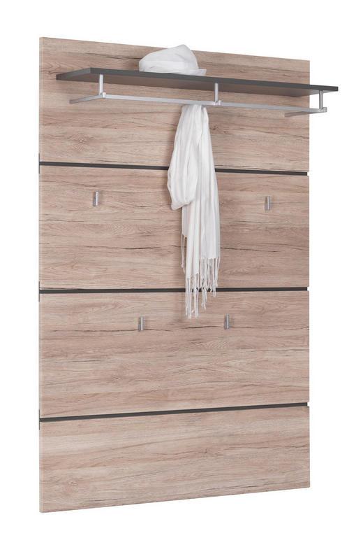 GARDEROBENPANEEL 100/145/25 cm - Eichefarben, Design, Holzwerkstoff (100/145/25cm) - Xora