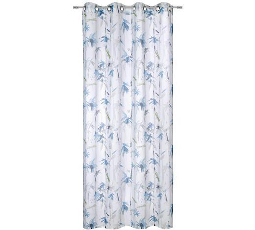 ZÁVĚS HOTOVÝ - šedá/tyrkysová, Konvenční, textilie (135/245cm) - Esposa